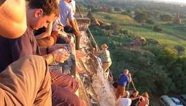 tourists in Bagan