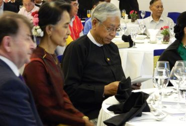 Aung San Suu Kyi and Htin Kyaw